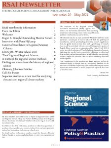 RSAI Newsletter 2021-1, front page